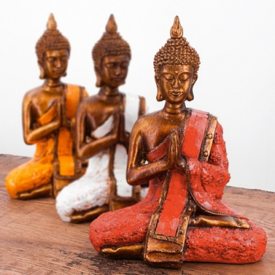 Statuette Bouddha position de prière