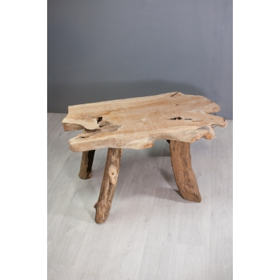 Table basse en racine de teck naturel