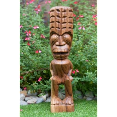 Tiki polynésien Taravao en bois de suar 50 cm