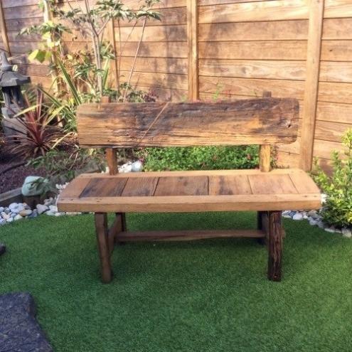 Chaise de jardin - Banc en vieux teck recyclé 130 cm