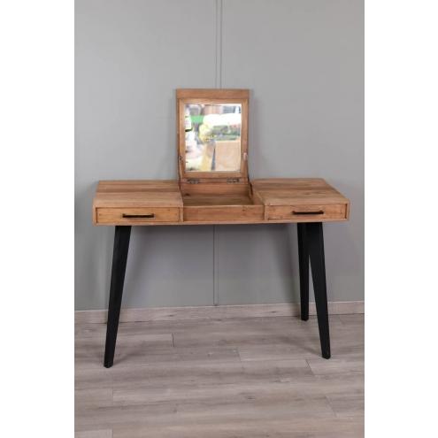 coiffeuse en vieux teck naturel l 120 cm meuble en teck. Black Bedroom Furniture Sets. Home Design Ideas