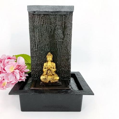 d co d 39 int rieur fontaine d int rieur bouddha en m ditation. Black Bedroom Furniture Sets. Home Design Ideas