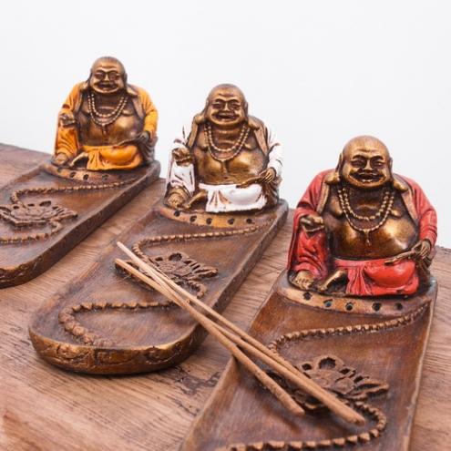D Coration Pas Cher Porte Encens Happy Bouddha Sur Containers Du Monde