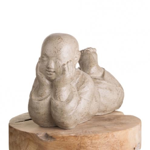 statue jardin statue moine shaolin allong 40 cm. Black Bedroom Furniture Sets. Home Design Ideas