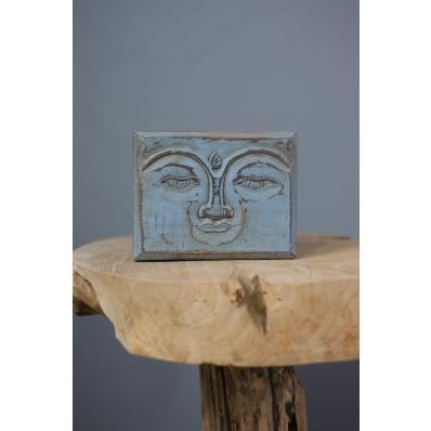 Boîte vide-poches Bouddha en bois blanche