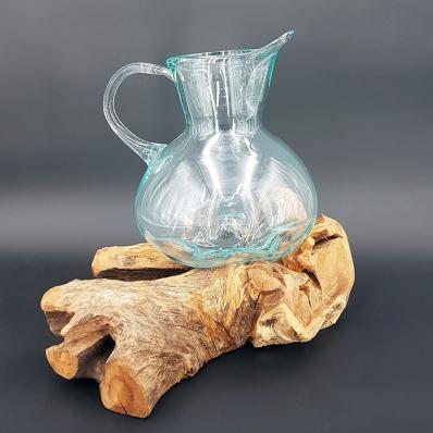 Carafe en verre recycle soufflé