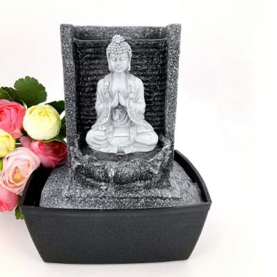 Fontaine d'intérieur Bouddha Nirvana en résine