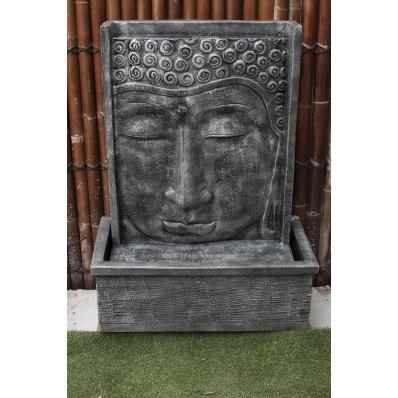 Fontaine mur d'eau visage de Bouddha 111 cm gris
