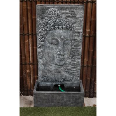 Fontaine mur d'eau visage de Bouddha 140 cm gris