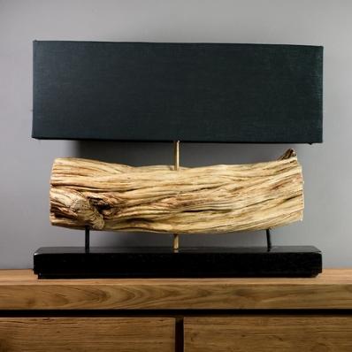 Lampe à poser en bois de liane