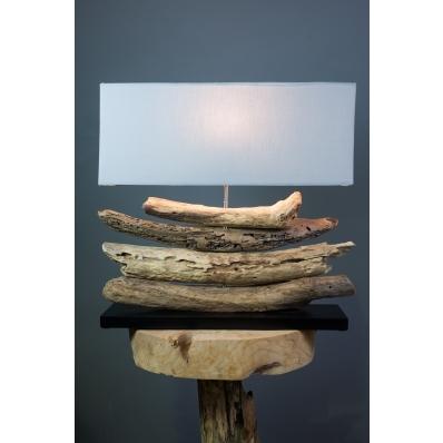 Lampe rectangulaire en bois flotté d'Indonésie - Madang