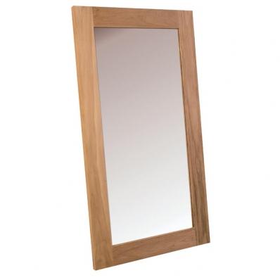 Miroir en teck massif brossé naturel 150x85 cm