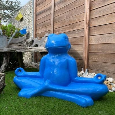 Statue Grenouille en fibrociment