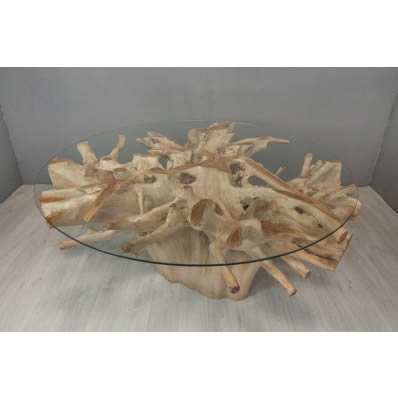 Table repas en racine de teck Ø 175 cm