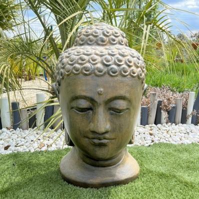 tete-de-bouddha-en-fibrociment-marron-containers-du-monde-33380-biganos