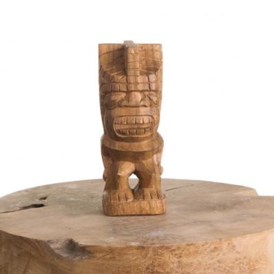 Tiki polynésien Mataiea en bois de suar 20 cm