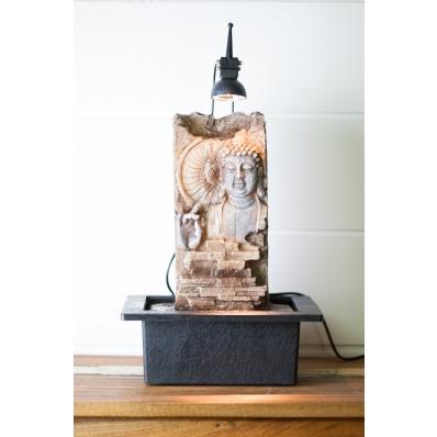 Fontaine d'intérieur Mur d'eau Bouddha relief