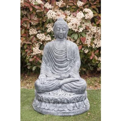 Statue Bouddha Varada-mudra 100 cm gris