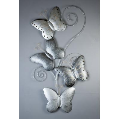 Décoration murale en métal 4 Papillons