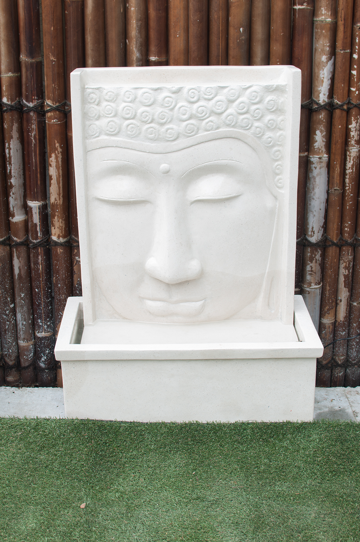 fontaine mur d 39 eau forme bouddha 111cm containers du monde. Black Bedroom Furniture Sets. Home Design Ideas