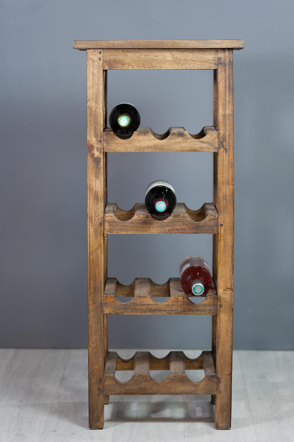 Fabriquer Casier À Bouteilles En Bois range-bouteilles en bois exotique naturel