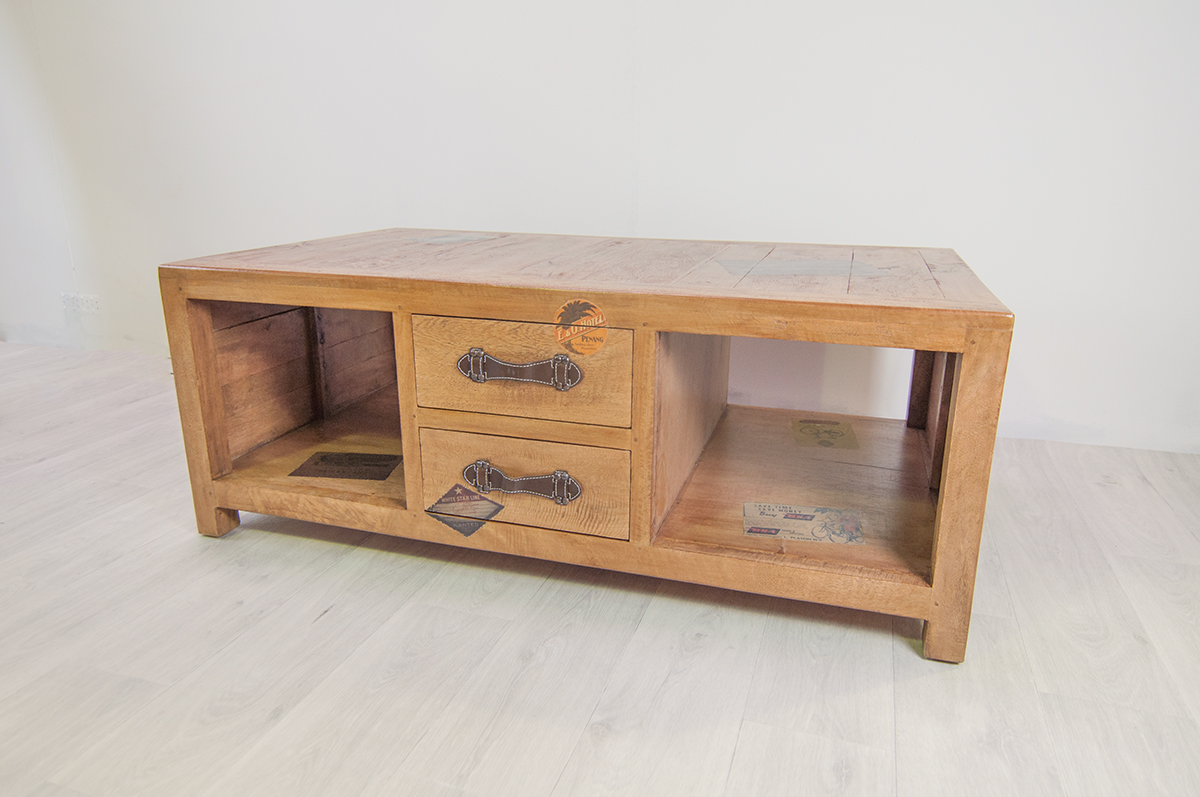 Table basse 120 cm en manguier komodo containers du monde - Table basse en manguier ...
