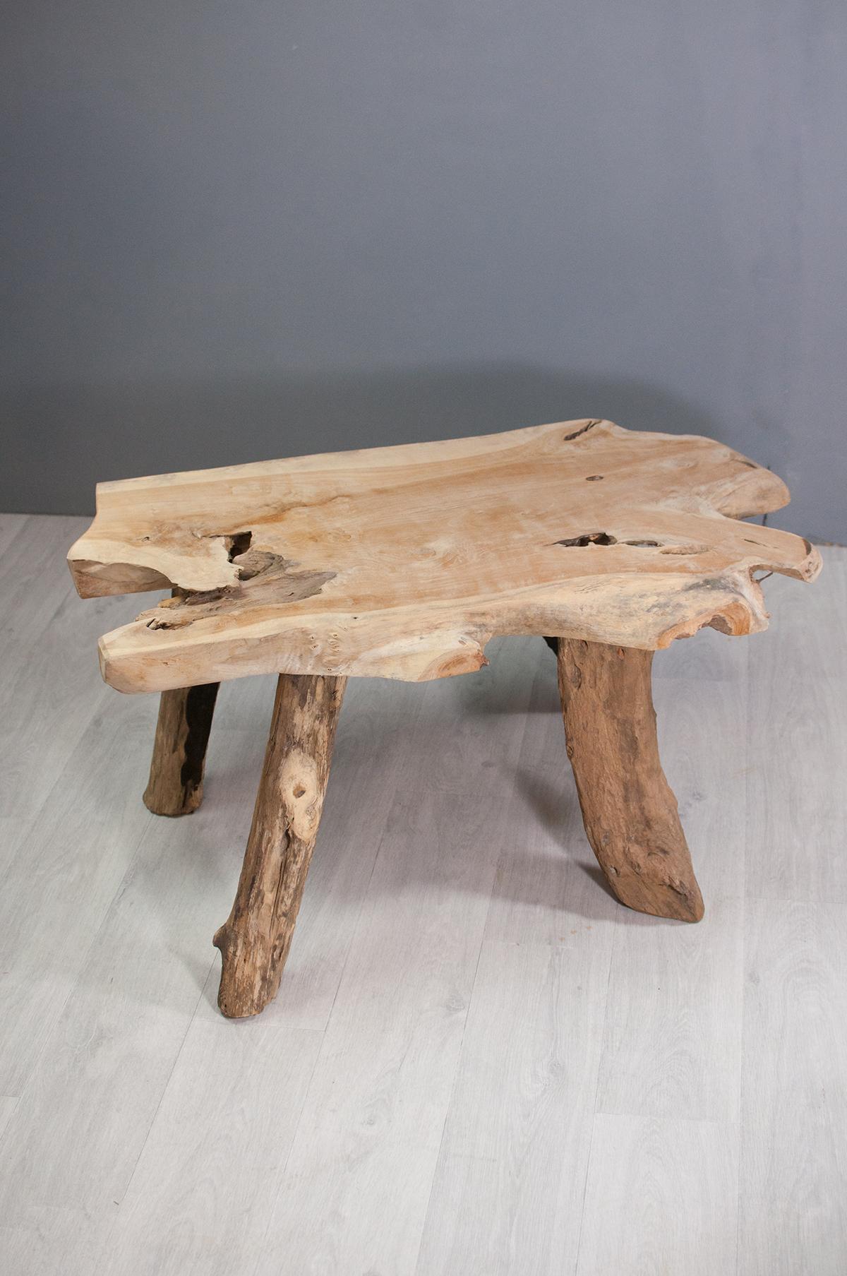 Table Basse En Racine De Teck Naturel
