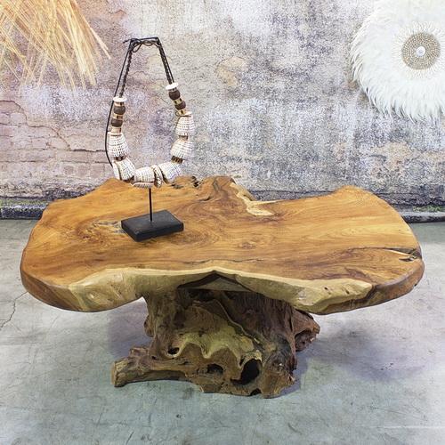 Vente de table basse pied central en racine de teck massif - Pied pour table basse ...
