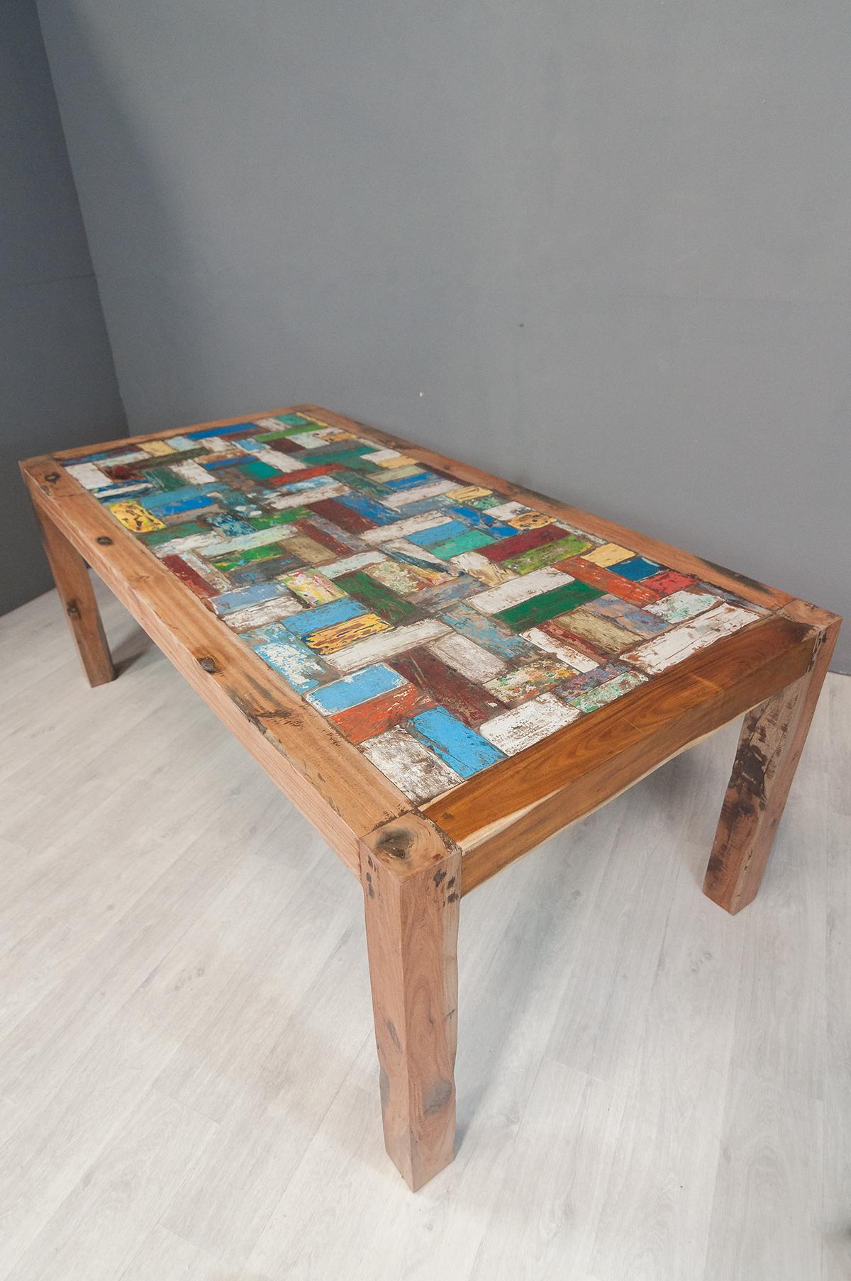table de repas 200 en bois de bateau. Black Bedroom Furniture Sets. Home Design Ideas