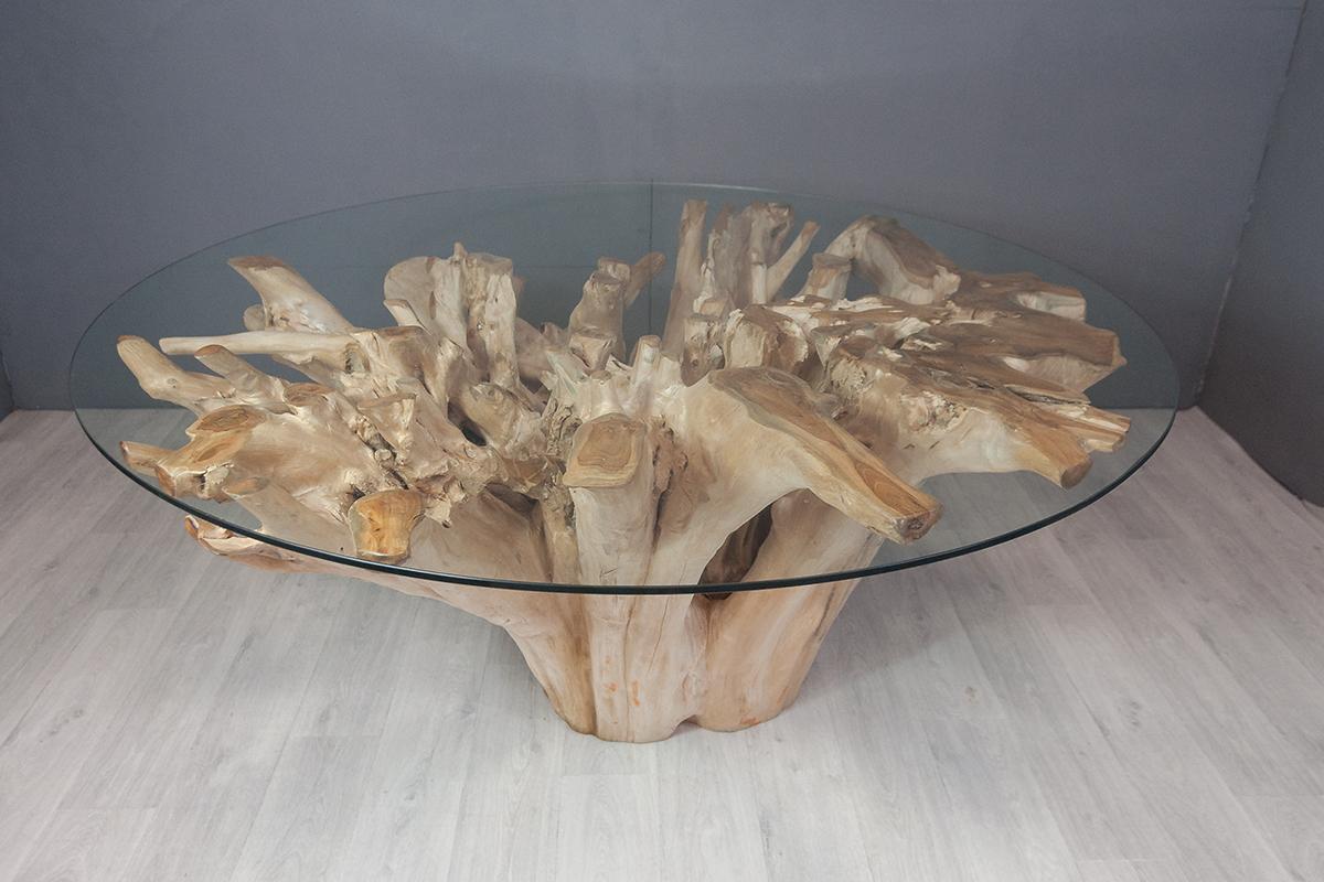 table repas en racine de teck 170 cm containers du monde. Black Bedroom Furniture Sets. Home Design Ideas