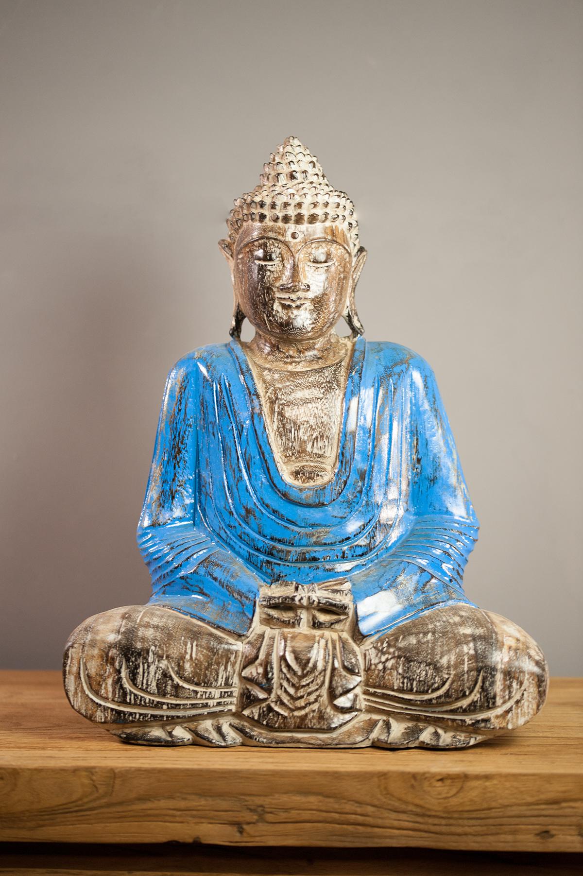 statuette statue bouddha m ditation en suar. Black Bedroom Furniture Sets. Home Design Ideas