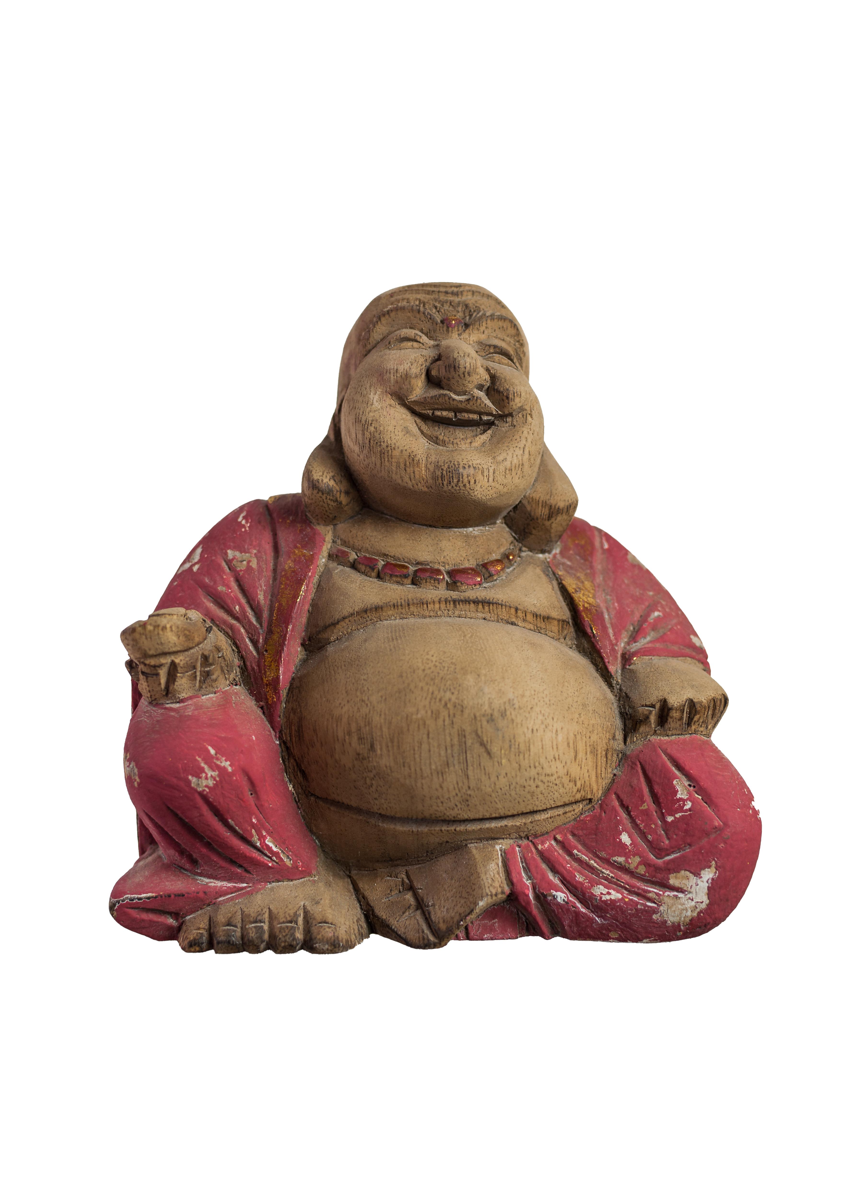 statue color e statue bouddha rieur en albizia. Black Bedroom Furniture Sets. Home Design Ideas