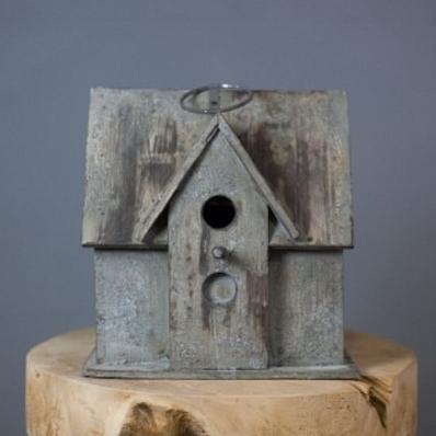 Cabane à oiseaux 1 perchoir en bois exotique