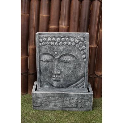 Fontaine mur d'eau visage de Bouddha 62 cm gris