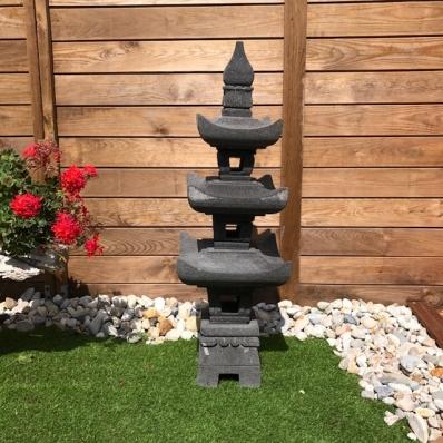 Lanterne japonaise en pierre de lave 110 cm Kyoto