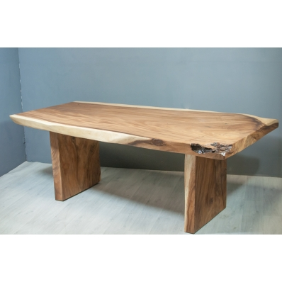 Table repas 205 cm en bois de suar massif