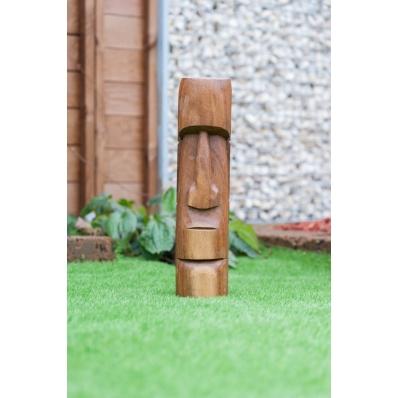 Tiki Moai Rapa Nui en bois de suar 50 cm